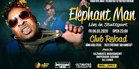 Elephant Man Live In Stuttgart Tickets