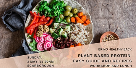 PLANT-BASED PROTEIN - Workshop and Lunch tickets