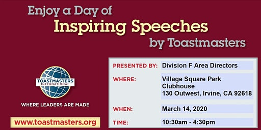Toastmasters Division F Area Contests