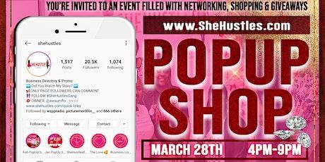 SheHustles March Pop Up Shop tickets