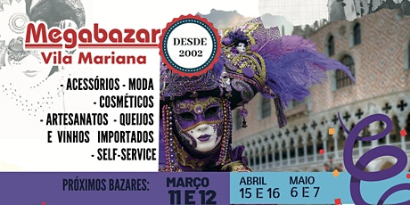 Megabazar Vila Mariana de Março 11 e 12 (Festa da Moda 2020) ingressos