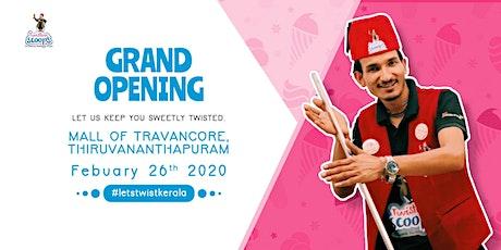 Grand Opening of Twisting Scoops in Thiruvananthapuram tickets