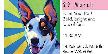 Paint Your Pet - Social Art Class tickets