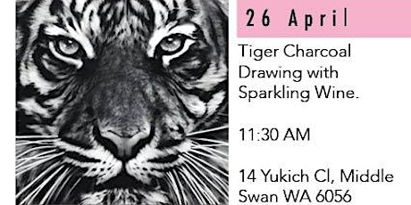 Charcoal Tiger  Drawing - Sparkling Wine, Social Art Class in the Valley tickets