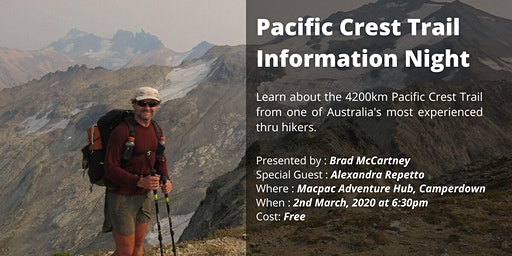 Pacific Crest Trail - Information night