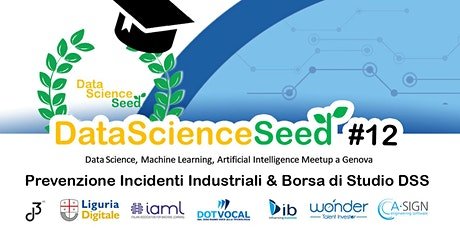 DataScienceSeed#12 - Prevenzione Incidenti Industriali e Borsa Di Studio DSS biglietti
