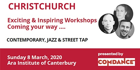 COMDANCE Contemporary, Jazz & Tap Workshops -  Christchurch tickets