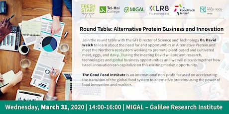 Migal Round Table: Alternative Protein Business and Innovation tickets