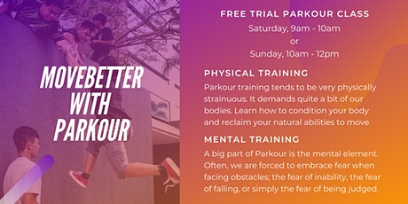 MoveBetter with Parkour - Free Trial Parkour Class in Malaysia tickets