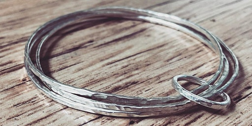 make a set of silver bangles with ring
