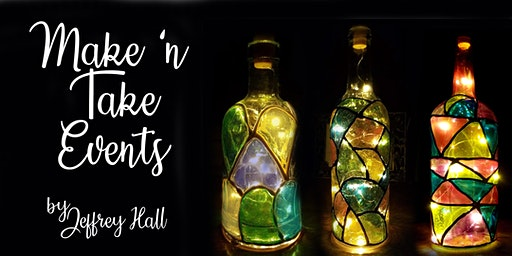 Make 'n Take - Stained Glass Wine Bottle