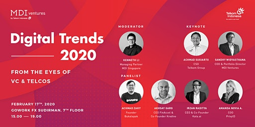 Digital Trends in 2020 From The Eyes of VC's and Telcos