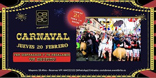 CARNAVAL Jueves 20/02 - COPAS 2€ (+18)