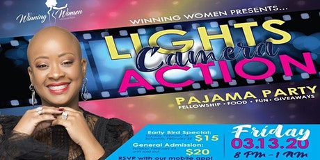Winning Women with London Royal - Lights, Camera, Action Pajama Party tickets