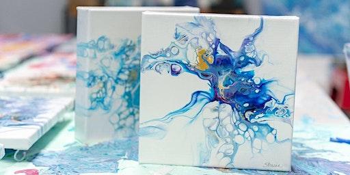 """Canvas pouring """"Paint & Wine"""""""
