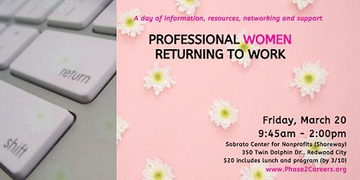 Professional Women Returning to Work Day