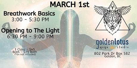 Breathwork Basics & Opening to The Light tickets
