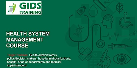 Introduction to Health System Management Course tickets