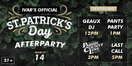 Ivar's St. Patrick's Day Afterparty tickets