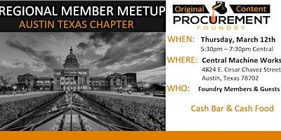 Austin Texas Member Meetup March 12, 2020
