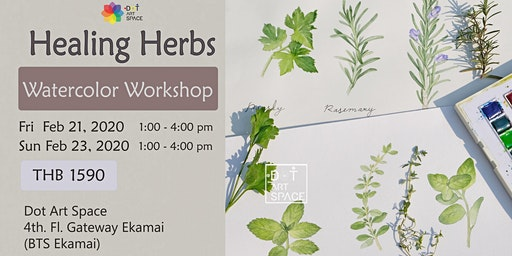 Healing Herbs Watercolor Workshop