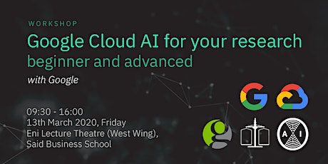 Google Cloud AI Workshop for Researchers - Beginner/Non-coder and Advanced tickets