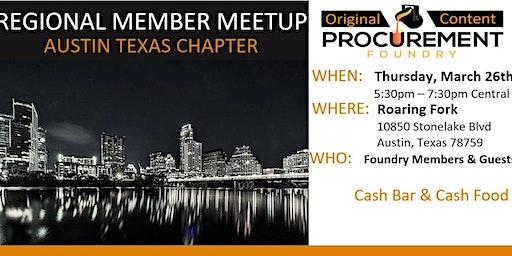 Austin Texas Member Meetup March 26, 2020