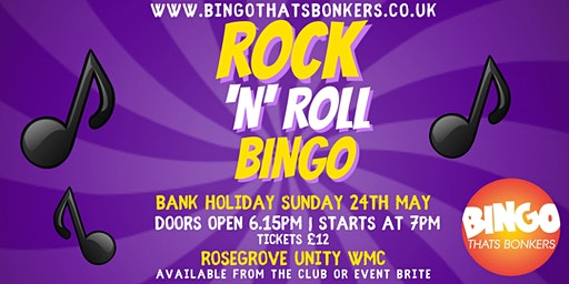 Rock 'N' Roll Bingo  Burnley