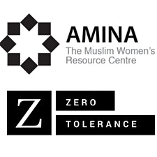 Amina The Muslim Women's Resource Centre in partnership with Zero Tolerance logo