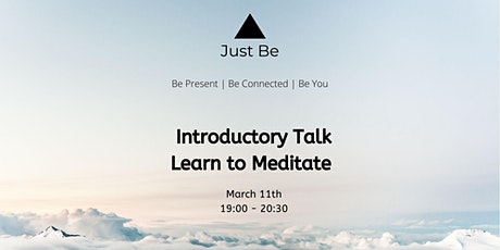 Introductory Talk Learn to Meditate tickets