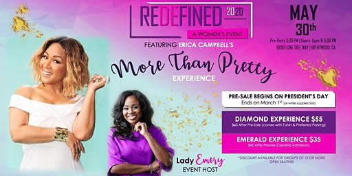 Redefined 2020 featuring Erica Campbell's More Than Pretty Experience