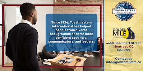 Improve your Communication and Leadership Skills - Golden Mile Toastmasters billets