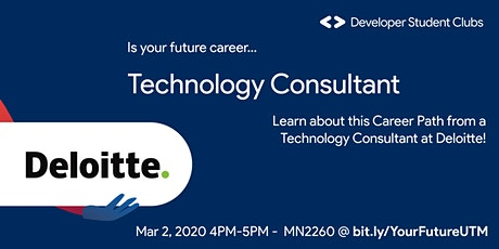 Technology Consultant at Deloitte tickets