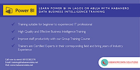 Power BI Essentials 2 Day Training in Lagos tickets