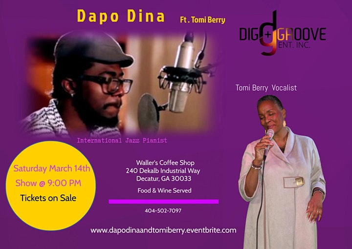 Evening of Jazz  with Pianist Dapo Dina & Vocalist Tomi Berry image