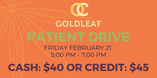 $40 Patient Drive Friday, Feb. 21st
