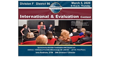 Division F  D86 International & Evaluation Speech Contest - March 5, 2020 tickets