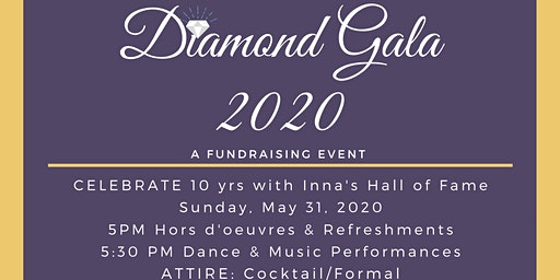 DIAMOND GALA FUNDRAISER Celebrating 10 yrs of performing arts excellence.