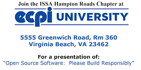 ISSA Hampton Roads March Chapter Meeting tickets