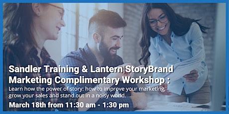 Sandler Training & Lantern StoryBrand Marketing Complimentary Workshop tickets