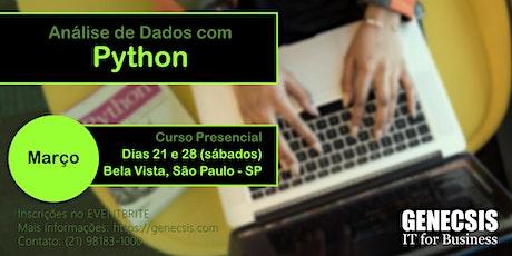 Análise de Dados com Python ingressos