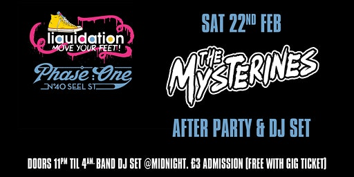 The Mysterines Afterparty and DJ Set