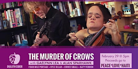 The Murder of Crows @ Duluth Cider (PEACE*LOVE*HAITI Fundraising Concert!) tickets