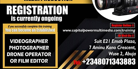 Photography, Videography, Drone and Editing Training in Abuja tickets