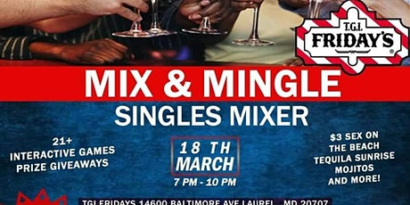 Mix & Mingle With Singles At TGI Fridays In Laurel MD! tickets