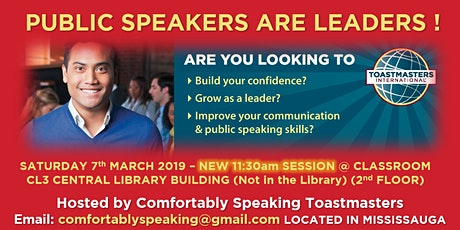 PUBLIC SPEAKERS ARE LEADERS !  [hosted by Comfortably Speaking] tickets