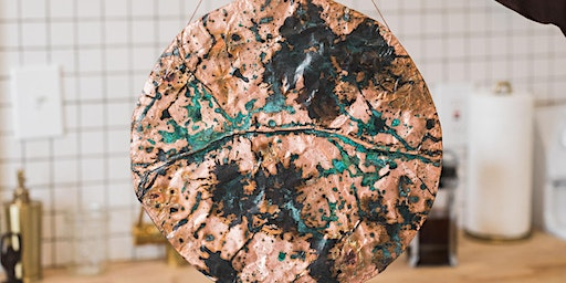 Patina Copper Wall Hanging with Aerow