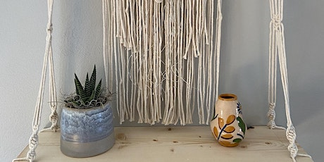 Macrame Shelf: Learning Handknotting with Basil + Bell tickets