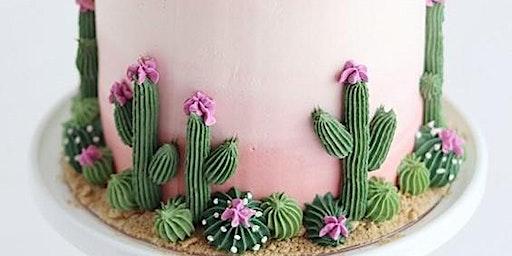 Ombre Cactus Cake