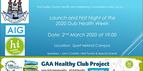 DUBS HEALTH WEEK LAUNCH tickets